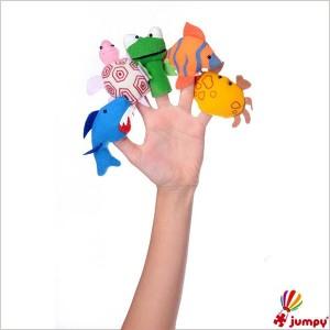عروسک های انگشتی حیوانات دریایی