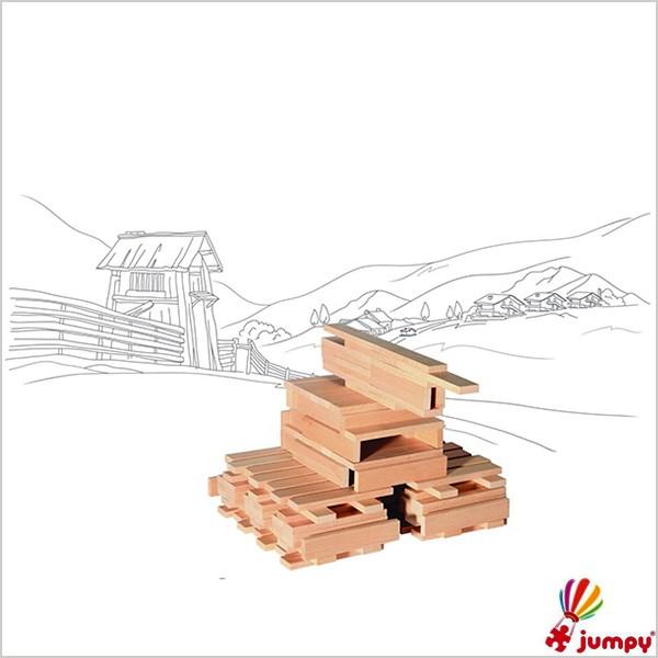 بلوک چوبی پنجاه قطعه