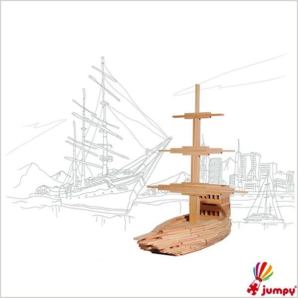 بلوک چوبی صد قطعه